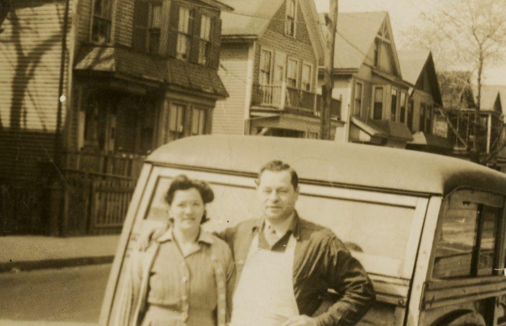 Sonia and Abraham Corman in Dorchester, 1940.