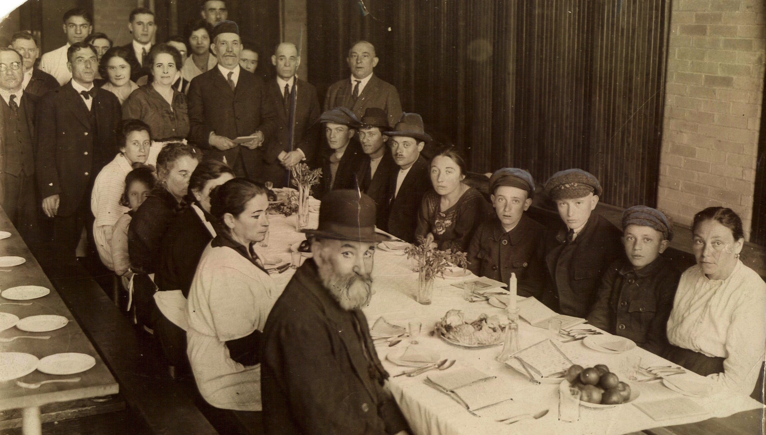 Passover Seder Provided By The Hebrew Immigrant Aid Society For New Arrivals At The East Boston Immigration Station, 1921. Photograph By Permission Of The American Jewish Historical Society-New England Archives, Boston, MA.
