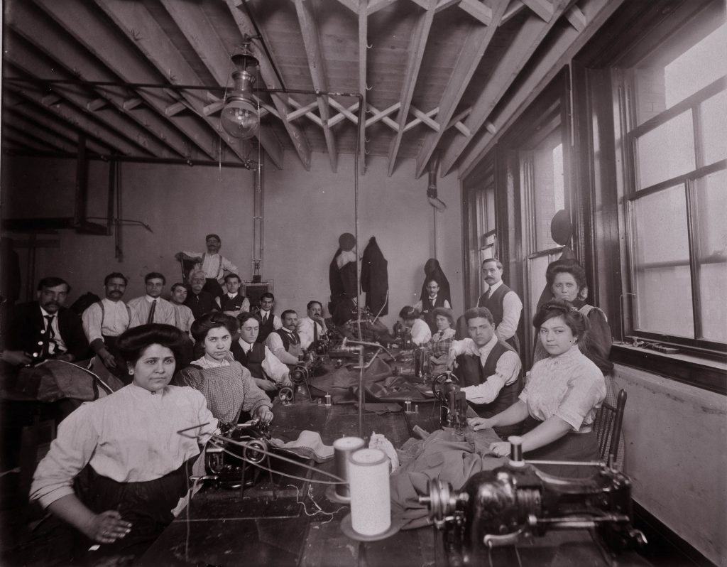 Armenian women workers at M.S. Kondazian Coat Factory, Boston, 1912. Project SAVE Armenian Photograph Archives, Watertown, MA.