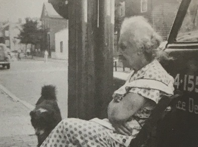 Lena's Mother, Anna Scolles, In Front Of Her Store In 1956. Courtesy Cambridge Historical Commission.