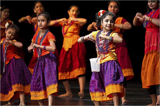 Indian-Americans Of Lexington Celebrate The Hindu Festival Of Diwali, 2011. Courtesy Of The Boston Globe.