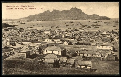 Postcard showing the Cape Verdean island of Saõ Vincente, early 20th century.