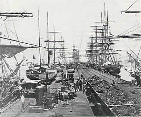 East Boston Shipyard, 19th Century.