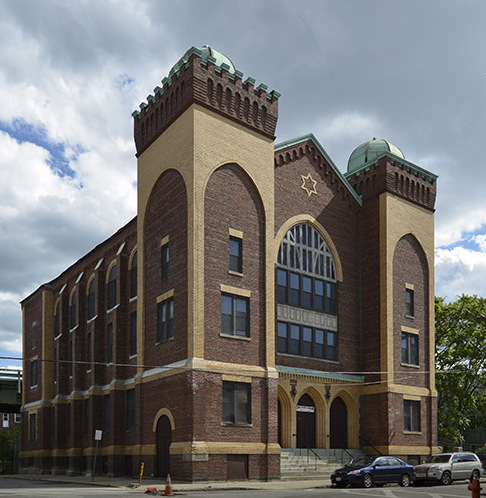 Walnut Street Shul (Agudas Sholom) In Chelsea, Massachusetts.