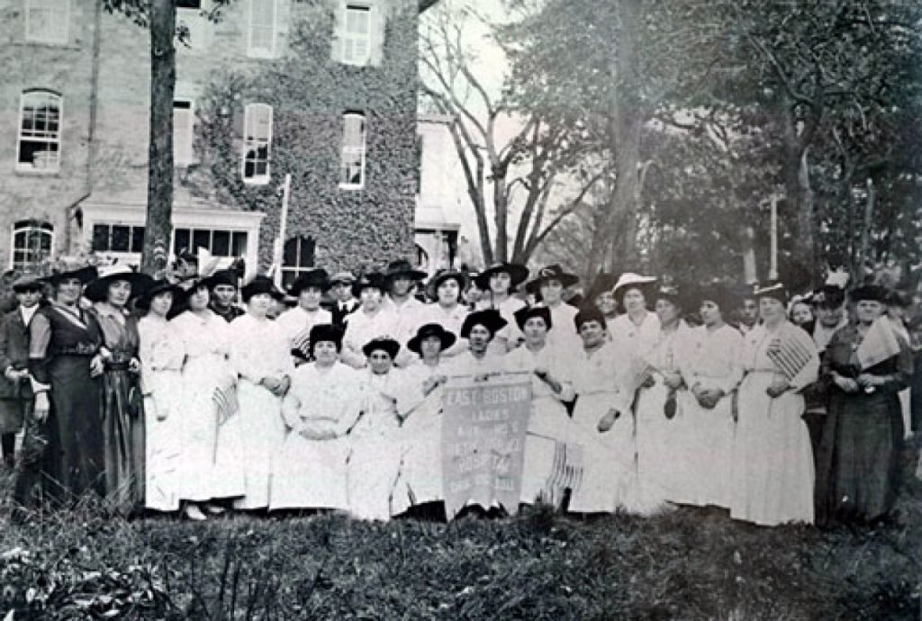 East Boston Ladies Auxiliary of Beth Israel, ca. 1911. Courtesy of the Jewish Cemetery Association of Massachusetts.