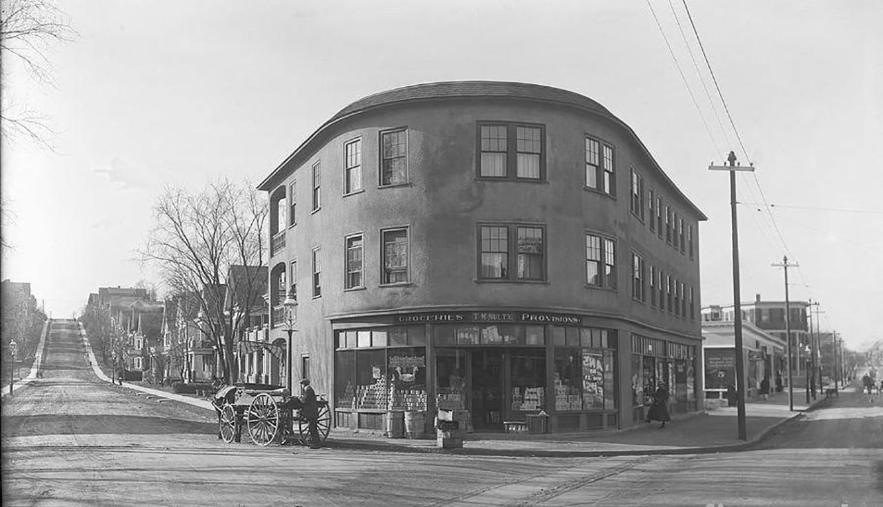 Corner Of Belgrade Avenue And Birch Street In Roslindale, 1899. Courtesy Of Roslindale Historical Society.