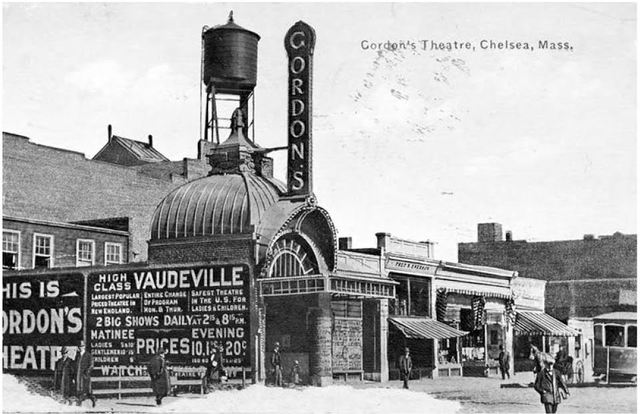 Gordon's Theater, downtown Chelsea, one of many of the city's Jewish-owned businesses in early 20th century.