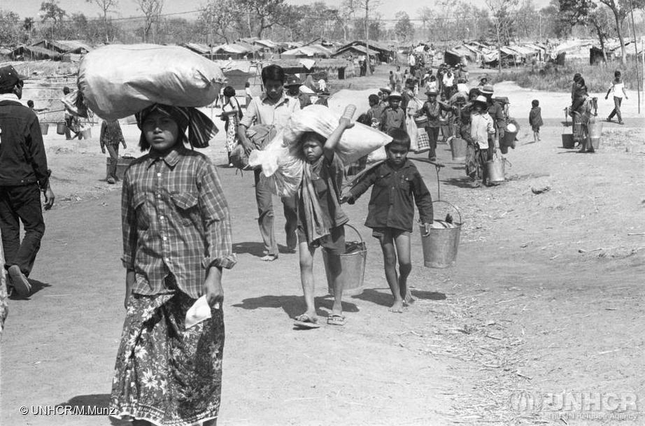 Cambodian Refugees Arriving In Khao I Dang Camp In Thailand, 1980. Thousands Of Cambodians Resettled In Greater Boston Over The Next Decade.