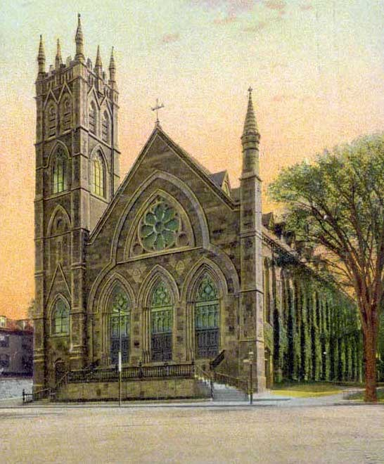 St. Peter Catholic Church in Meeting House Hill, a predominantly Irish-Catholic parish founded in 1872.