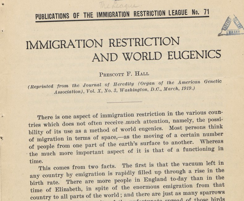 Eugenics And Restriction