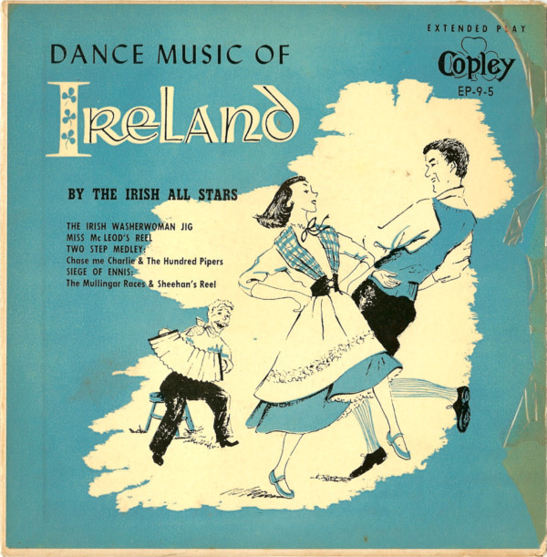 One of hundreds of records produced by Copley Records between the 1948-1986. This 1955 recording of Irish dance music featured legendary Boston accordionist Joe Derrane and other Dudley Street musicians.