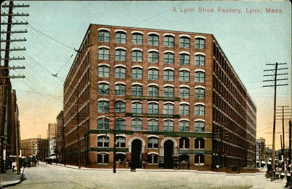 The Vamp Building, one of dozens of buildings housing shoe factories in downtown Lynn.